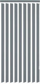 Verticale jaloezie grijs stof 150x180 cm