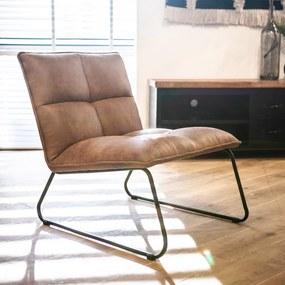 Eleonora Ruby Industriële Design Fauteuil Cognac