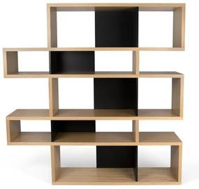 TemaHome London Design Boekenkast Eiken - Zwart - 156x34x160cm.