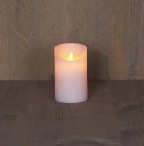 Batterijverlichting kaars wax rustiek met bewegende vlam 12.5 cm Anna's Collection