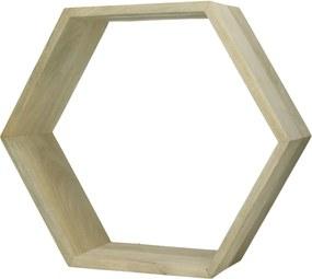 Pomax | Set van 2 wandrekken Graphik lengte 45 cm x breedte 15 cm x hoogte 39 cm groen wandrekken mangohout opbergen decoratie | NADUVI outlet