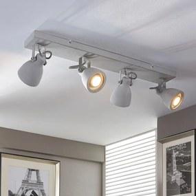 Vierlamps beton-plafondlamp Kadiga - lampen-24