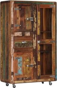 Hoge kast 90x42x142 cm massief gerecycled hout