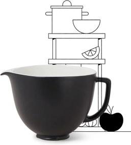 KitchenAid Beslagkom van keramiek 4,7 liter 5KSM2CB5BM - Mat Zwart