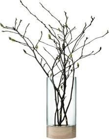 L.S.A. | Lotta Vaas diameter 22 cm x hoogte 62 cm transparant vazen glas vazen & bloempotten decoratie | NADUVI outlet