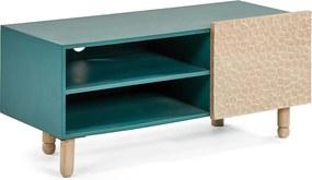 Kave Home Salyn Blauw Houten Tv-meubel - 110x45x45cm.