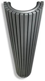 Vasco Carre Halfrond CR O designradiator halfrond verticaal 350x1800mm 1528 watt antraciet 111400350180000180301-0000