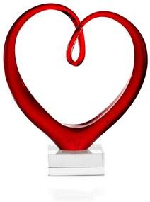 Leonardo Glassculptuur hart 23 cm