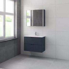 Bruynzeel Karo meubelset met spiegelkast 80cm 1 kraangat oud blauw 227075k