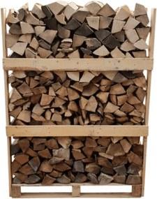 Essen-Eik-Beuk Mix - Natuurgedroogd - 1,6 kuub gestapeld - 700 houtblokken