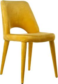 Pols Potten Holy stoel velvet geel