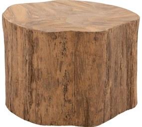 Goossens Bijzettafel Antis, hout teak blank, urban industrieel, 60 x 40 x 60 cm