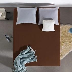 Home Care HC Dubbel Jersey Hoeslaken - Bruin 190/200 x 220 cm