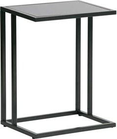 Woood bijzettafel Jasmin - zwart - 60x45x35 cm - Leen Bakker