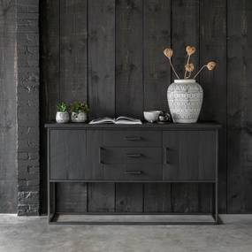 DTP Home Timeless Black Zwart Dressoir Beam No. 2 - 158x43x90cm.