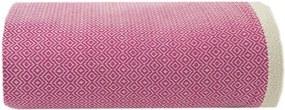 Sprei / grand foulard fuchsia roze Diamant, katoen 195 - 300 cm