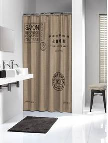 Douchegordijn Textiel Sealskin Savon De Provence Polyester Linnen 180x200cm