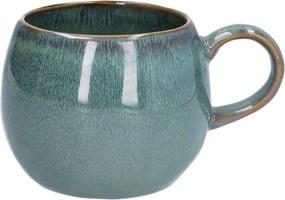 Mok rond reactieve glazuur, steengoed, groen, Ø 12 cm