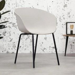 Dimehouse | Eetkamerstoel Herning breedte 56 cm x diepte 56 cm x hoogte 80 cm wit eetkamerstoelen kunststof meubels stoelen | NADUVI outlet