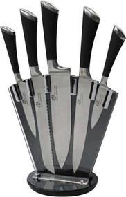 PRADEL Blok van 5 Excellence-messen - roestvrijstalen messen en plexiglashouder - zwart