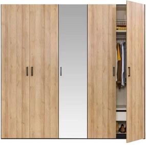 Stock draaideurkast - eikenkleur - 236x252,8x65 cm - Leen Bakker