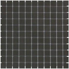 The Mosaic Factory London mozaïektegel 2.3x2.3x0.6cm wandtegel voor binnen en buiten vierkant porselein zwart ongeglazuurd LO2317