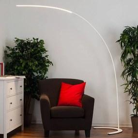 Minimalistische LED vloerlamp Danua in het wit - lampen-24