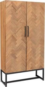 Sohome Opbergkast Hawaii Teak en staal, 200 x 105cm
