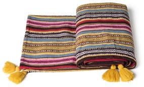 Plaid Mexican tassel - multikleur - 130x160 cm