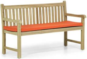 Garden Collections Preston tuinbank teak 150 cm incl. orange kussen