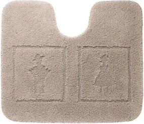 Toiletmat Antislip Sealskin Man&Woman Katoen Linnen 50x60cm