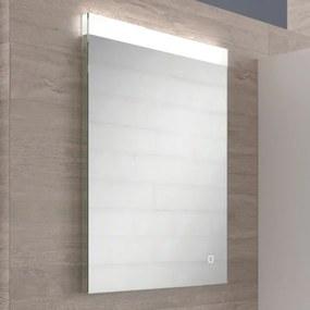 Nemo Spring Dritto spiegel rechthoekig W600 x H800 mm antidamp met LED verlichting directe en indirecte verlichting warm en koud licht IP44 met touch schakelaar met transformator met bevestigingsmateriaal Dritto (80x60cm)