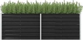 Plantenbak verhoogd 240x80x77 cm gegalvaniseerd staal antraciet