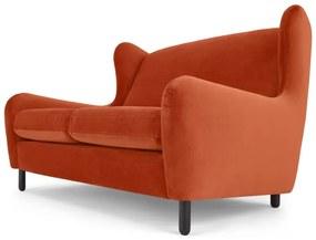 Rubens 2-zitsbank, zuiver oranje fluweel