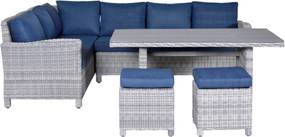 Vancouver Lounge dining set 5-delig links cloudy grey 5 mm patrol