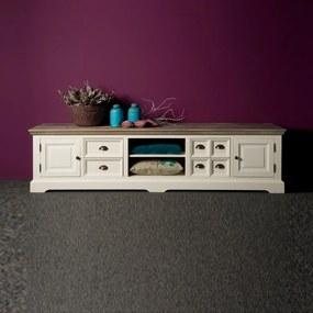 Tower Living Tv-meubel Wit 220 Fleur - 220x50x54cm.