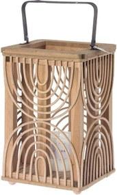 Riverdale | Lantaarn Urban Maja diameter 18.5 cm x hoogte 40 cm bruin lantaarns decoratie kaarsen & kandelaars | NADUVI outlet