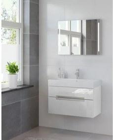 Bruynzeel Mino badmeubelset 80x56x38cm met spiegel glans wit 220714k