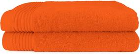 The One Towelling 2-PACK: Handdoek Basic - 70 x 140 cm - Oranje