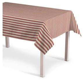 Rechthoekig tafelkleed, rood-ecru