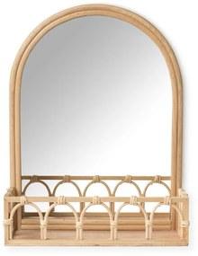 Rotan spiegel met bakje - 30x40x10 cm