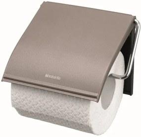 Brabantia classic toiletrolhouder met klep classic platinum 477300