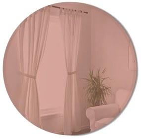 Umbra Hub spiegel 91x91x3cm met roze gloed glas koper 1013719-880