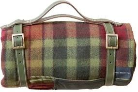 Picknickkleed wol: groen, rood, ruiten