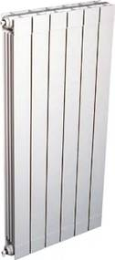 Oscar radiator (decor) aluminium wit (hxlxd) 1046x264x93mm