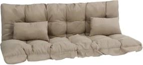 4-delige Kussenset voor schommelstoel stof beige