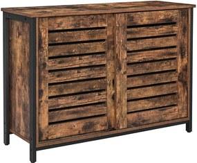 Nancy's Bristol Opbergkast - Commode Kasten - Industriële Kast - Dressoir - Kast met 2 Planken en 2 Deuren - 100 x 35 x 70 cm (L x B x H)
