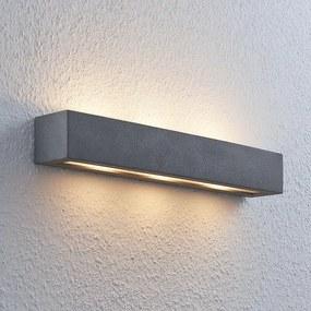Nellie LED-beton-wandlamp, breedte 50,8 cm - lampen-24