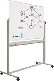 Whiteboard Verrijdbaar - Dubbelzijdig - Magnetisch - 120x150 cm