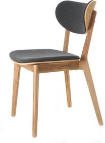 Cato Chair - Eetkamerstoel - Eikenhout - Donkergrijs